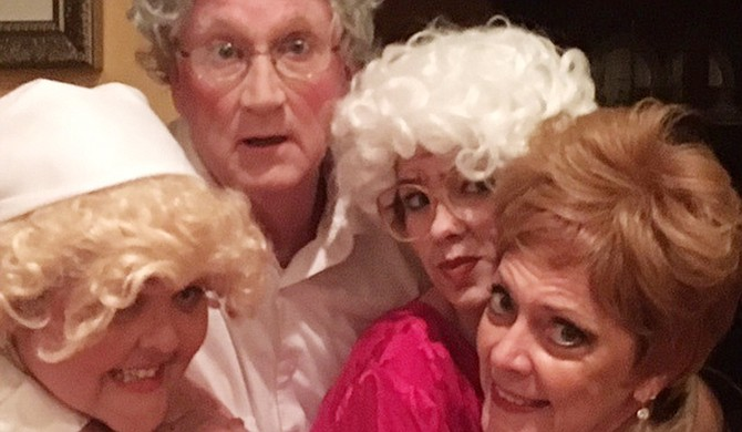 """Mississippi Murder Mysteries' production, """"Murder is Golden,"""" is a parody of """"The Golden Girls,"""" but with a plot twist. Photo courtesy Fringe Dinner Theatre"""