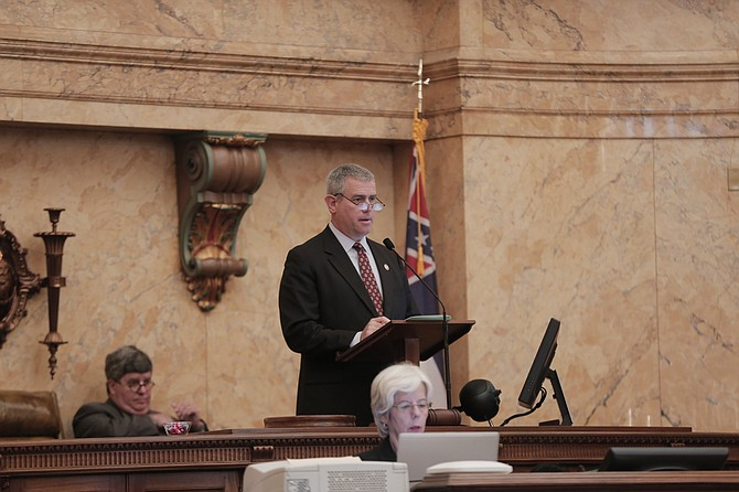 """House Speaker Philip Gunn stripped Rep. Karl Oliver, R-Winona, of his vice-chairmanship after he posted a Facebook post this weekend inciting """"lynching"""" of those who want to destroy Confederate monuments. File"""