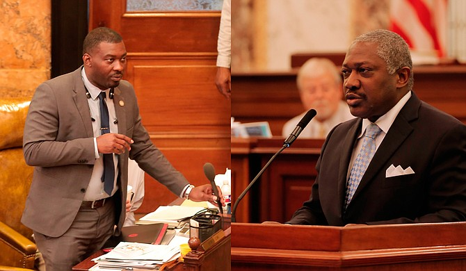Rep. Bryant Clark, D-Pickens, (left) and Sen. John Horhn, D-Jackson, (right) filed a lawsuit against the governor for implementing mid-year budget cuts to Mississippi Adequate Education Program.