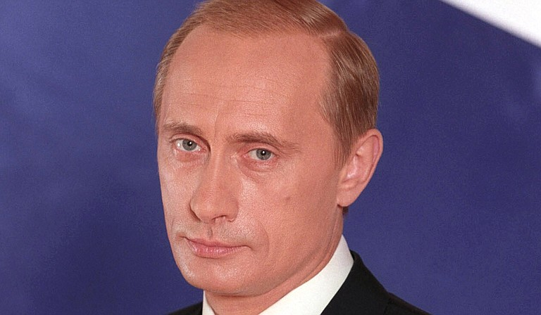 "On the eve of his first meeting with Russian President Vladimir Putin (pictured), President Donald Trump vowed Thursday to confront ""new forms of aggression"" targeting the West and called for Moscow to stop fomenting unrest around the world. Yet he pointedly stopped short of condemning Russia for meddling in the U.S. election. Photo courtesy Kremlin.ru"