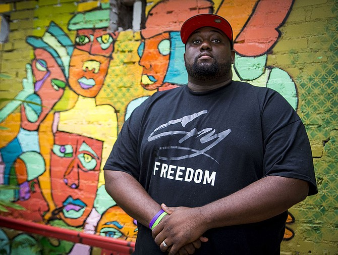 Baton Rouge, La., hip-hop artist Marcel P. Black performs Friday, July 28, at Land Vs. Ocean as part of the Building Bridges Tour. Photo courtesy Marcel P. Black