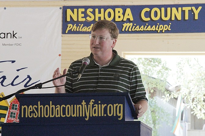 Lt. Gov. Tate Reeves took several shots at Attorney General Jim Hood in his Neshoba County Fair stump speech on Wednesday. Both are potential gubernatorial candidates.