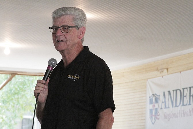 Gov. Phil Bryant defended incentives for corporations and talked about his plan for early education in daycare centers at the Neshoba County Fair on Thursday.
