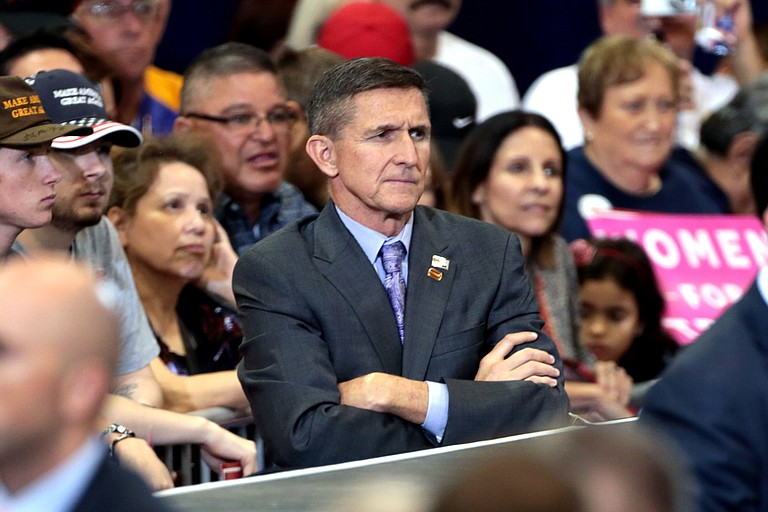 President Donald Trump's former national security adviser, Michael Flynn, is revealing a brief advisory role with a firm related to a controversial data analysis company that aided the Trump campaign, The Associated Press has learned. Photo courtesy Flickr/Gage Skidmore