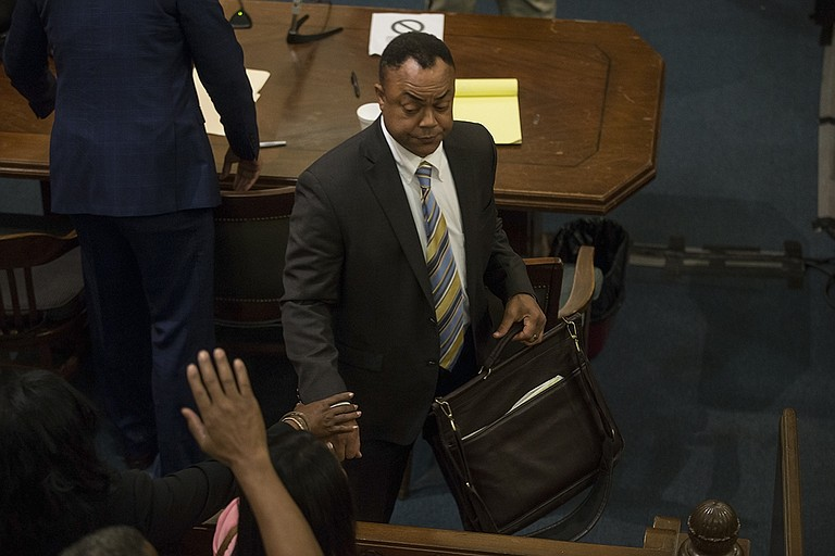 """Hinds County District Attorney Robert Shuler Smith today beat State charges against him for hindering the prosecution of Christopher Butler as a jury found him """"not guilty"""" on three counts."""