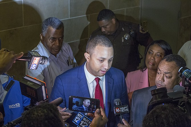 """Michael Sterling, Smith's defense attorney, painted Smith as """"the kind of district attorney you want"""" because he didn't ignore the claims of a criminal defendant who felt he was being targeted and even put himself on the line in the process. Sterling spoke with the volume and cadence of a southern Baptist preacher."""