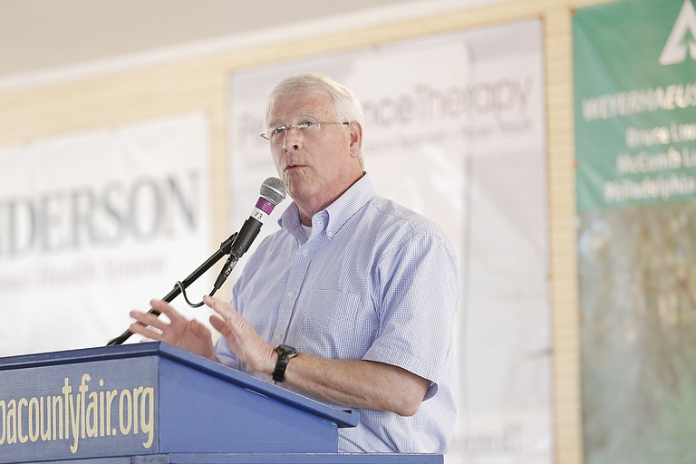 """""""I condemn the white supremacists and the neo-Nazis that engaged in violence,"""" Sen. Roger Wicker told reporters Monday in Jackson before speaking at a chamber of commerce breakfast."""