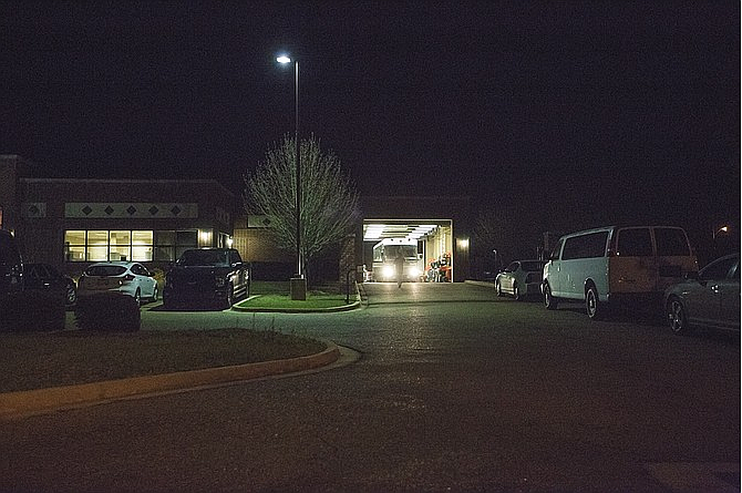 The Office of Homeland Security office in Pearl was active the night of Wednesday, Feb. 22, 2017, after U.S. Immigration and Customs Enforcement officials raided eight restaurants in Mississippi. A large bus was at the site after dark.