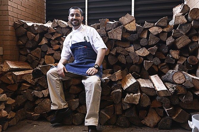 """General Manager Steven O'Neill and Executive Chef Alex Eaton (pictured) of The Manship Wood Fired Kitchen are preparing to launch a new Mediterranean """"fast fine dining"""" restaurant called Aplos at Highland Village in early 2018."""