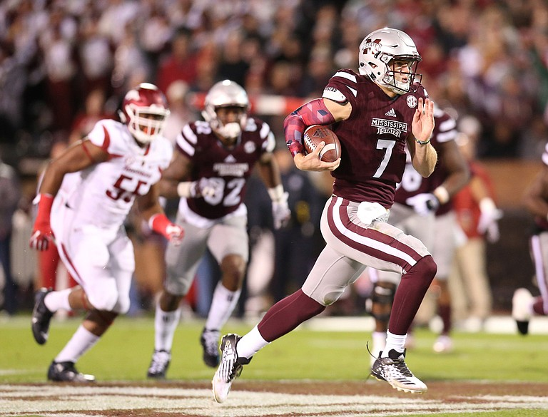MSU quarterback Nick Fitzgerald is one of the hopefuls for this year's Conerly Trophy.