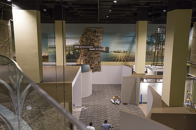 The Mississippi Civil Rights Museum and the Museum of Mississippi History, which share a lobby, are being built near the state Capitol in downtown Jackson. They are set to open Dec. 9 for the state's bicentennial.