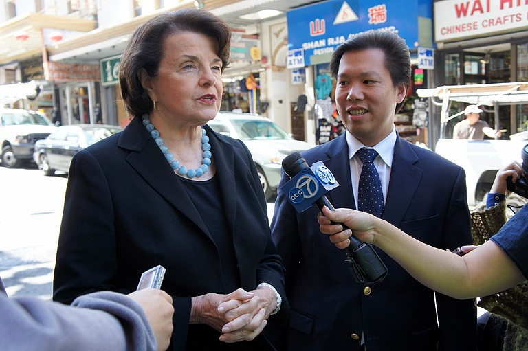 """Sen. Dianne Feinstein (left), D-Calif., told Amy Coney Barrett that dogma and law are two different things and she was concerned """"that the dogma lives loudly within you."""" Photo courtesy Flickr/David Lee"""