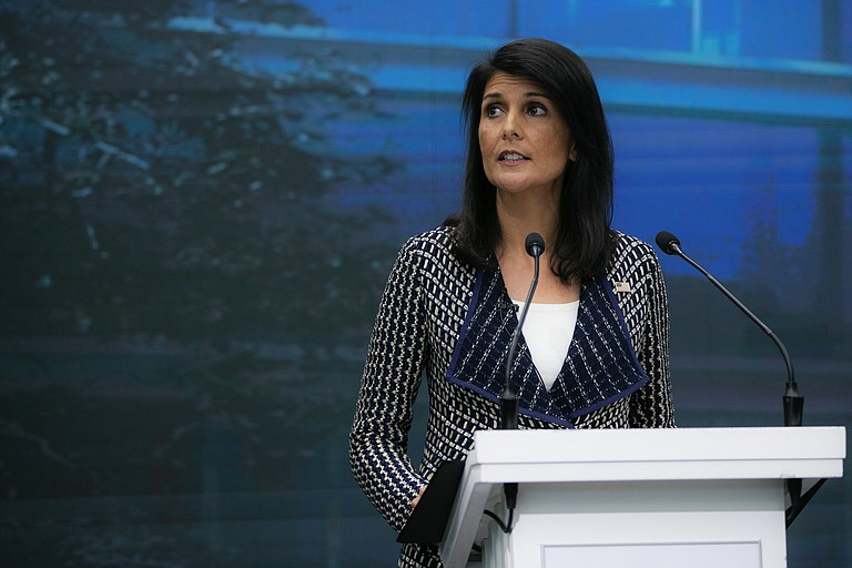 "U.S. Ambassador Nikki Haley told the council after the vote that ""these are by far the strongest measures ever imposed on North Korea."" But she stressed that ""these steps only work if all nations implement them completely and aggressively."" Photo courtesy Flickr/US Mission Geneva"