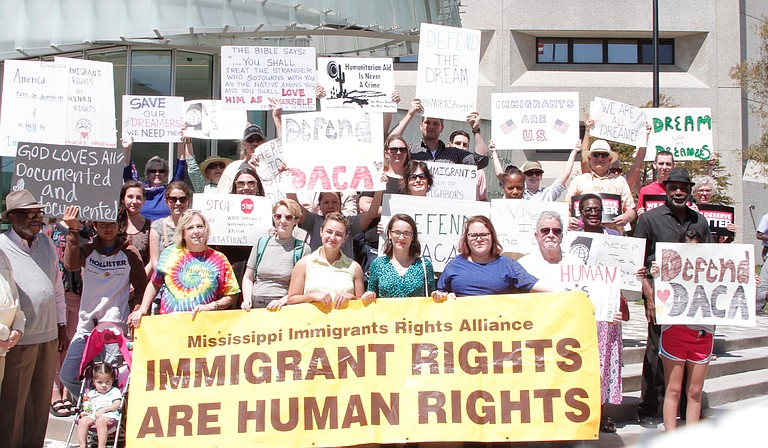 Mississippians protested outside the office of U.S. Sen. Thad Cochran, R-Miss., in support of the Deferred Action for Childhood Arrivals program on Sept. 8.