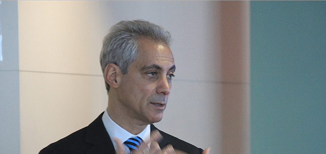"""Chicago Mayor Rahm Emanuel called the ruling a victory for cities, counties and states nationwide and """"a clear statement that the Trump administration is wrong."""" Photo courtesy Flickr/Daniel X. O'Neil"""