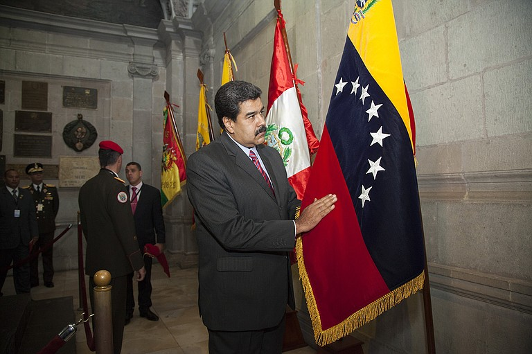 "Venezuelan President Nicolas Maduro responded to Trump urging world leaders to help restore ""democracy and political freedoms"" in Venezuela by calling the U.S. president ""the new Hitler"" of international politics. Photo courtesy Flickr/Cancillería del Ecuador"