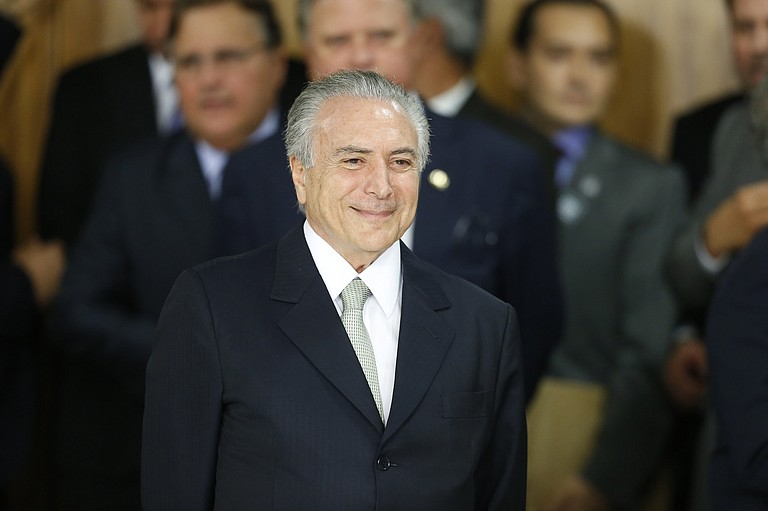 Brazilian President Michel Temer was first to sign on the opening day for signatures for the treaty. Photo courtesy Flickr/PMDB Nacional