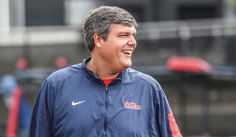 """""""We're going to build on the second half of Auburn,"""" interim coach Matt Luke said. """"That's going to be the turning point of our season."""" Photo courtesy Joshua McCoy/Ole Miss Athletics"""
