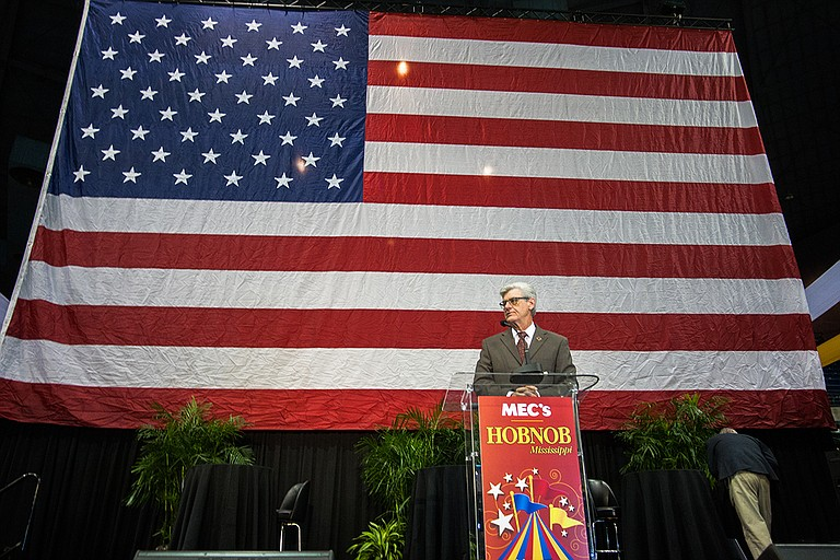 Gov. Phil Bryant told reporters at the annual Hobnob Mississippi event his morning that several organizations and the Department of Education are working with his office on a third option for Jackson Public Schools. Photo by Stephen Wilson
