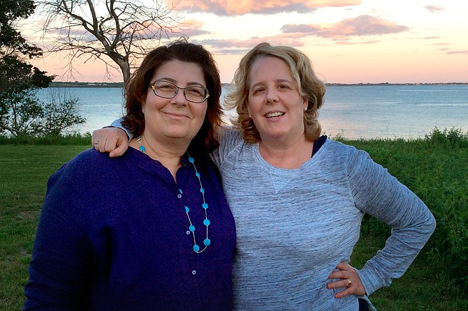 Roberta Kaplan (right) and her wife, Rachel Lavine, married in Toronto in 2005. Photo courtesy Kaplan Family