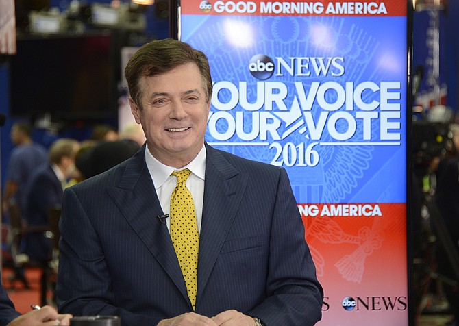 President Donald Trump's former campaign chairman, Paul Manafort (pictured), and a former Manafort business associate, Rick Gates, were indicted Monday on felony charges of conspiracy against the United States, acting as an unregistered foreign agent, and several other financial counts involving tens of millions of dollars routed through offshore accounts. Photo courtesy Flickr/Disney/ABC Television Group