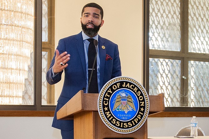 Mayor Lumumba mentioned several initiatives, from a movie theater to a blight elimination program that rely on outside funding. While these ideas are exciting, they are difficult for journalists to cover accurately for Jacksonians. Photo by Stephen Wilson