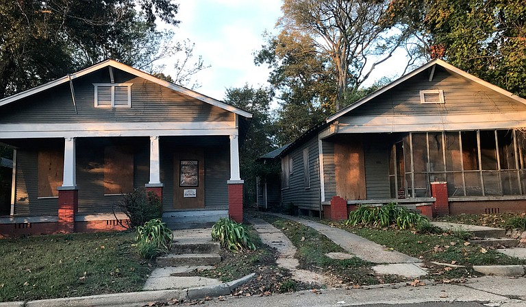 The Scott Ford Houses on Cohea Street, now falling apart, were once home to a former slave and her daughter, a midwife. Photo by Ko Bragg