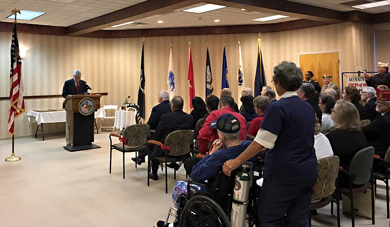 Gov. Phil Bryant addressed a room full of veterans to commemorate Veterans Day on Thursday, Nov. 9.
