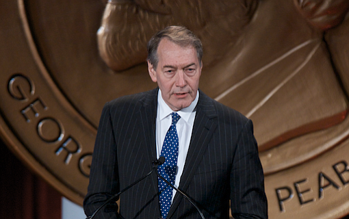 CBS News fired morning show host Charlie Rose on Tuesday, less than 24 hours after several women who worked with him on his PBS interview show alleged a pattern of sexual misconduct, including groping and walking naked in front of them. Photo courtesy Flickr/Peabody Awards