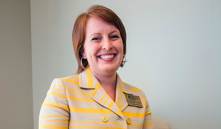 The Center for Pregnancy Choices' Fondren office opened in May, but Executive Director Erin Kate Goode (pictured) said the clinic will have to get creative since the city council denied the nonprofit's request to erect a sign on State Street. Photo by Stephen Wilson