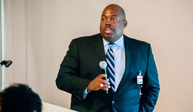 "JPS Interim Superintendent Freddick Murray told the ""Better Together"" Commission"" in November that the rate of students referred to the alternative school are down so far in the 2017-2018 school year. Photo by Stephen Wilson"