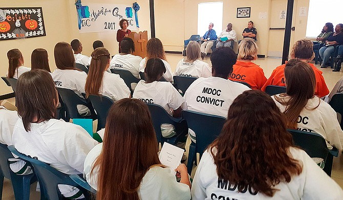 Fourteen women graduated from the Thinking for a Change program at the Flowood Community Work Center in October. Now, MDOC is replacing military-style program with the evidence-based strategy to reduce repeat offenses. Photo courtesy Mississippi Department of Corrections
