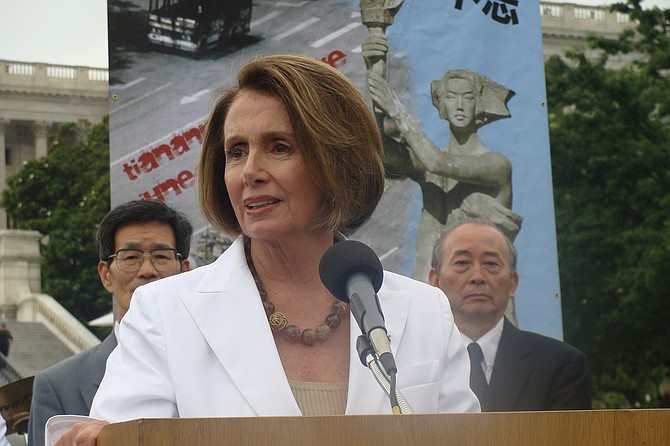 "Minority Leader Nancy Pelosi said she prayed for Conyers, who was hospitalized in Detroit, and his family. ""However,"" she said, ""Congressman Conyers should resign."" Photo courtesy Flickr/Nancy Pelosi"