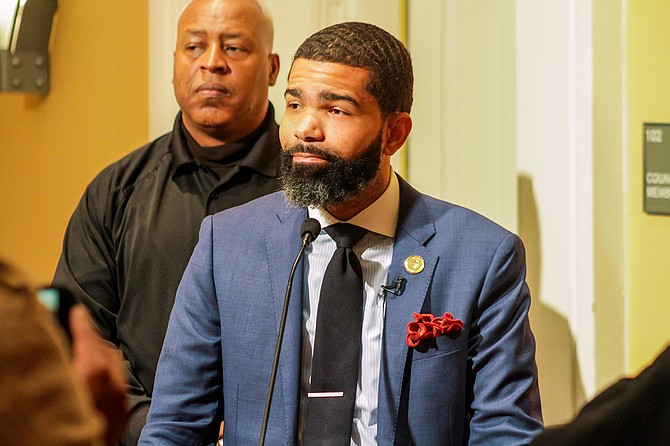 Mayor Chokwe A. Lumumba underscored the necessity to invest in Jackson's aging infrastructure that his administration inherited at a press conference on Jan. 17, 2018. Even the City of Jackson was closed that day.