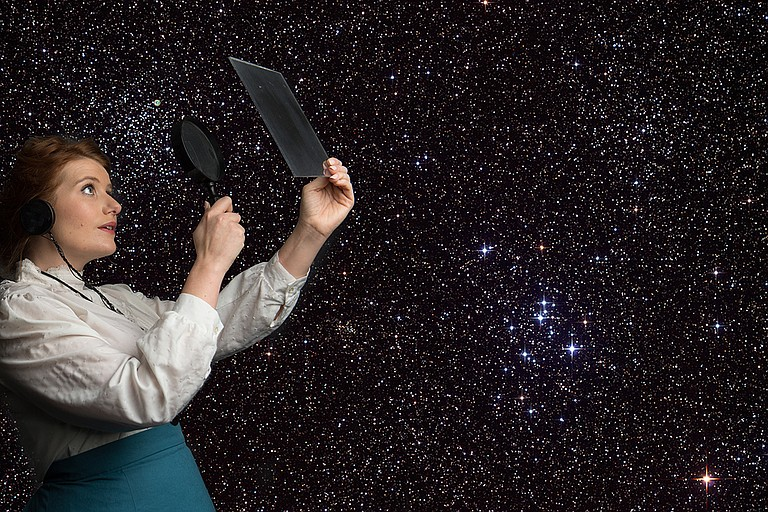 """Annie Cleveland portrays astronomer Henrietta Leavitt in New Stage Theatre's production of """"Silent Sky."""" Photo courtesy James Patterson"""