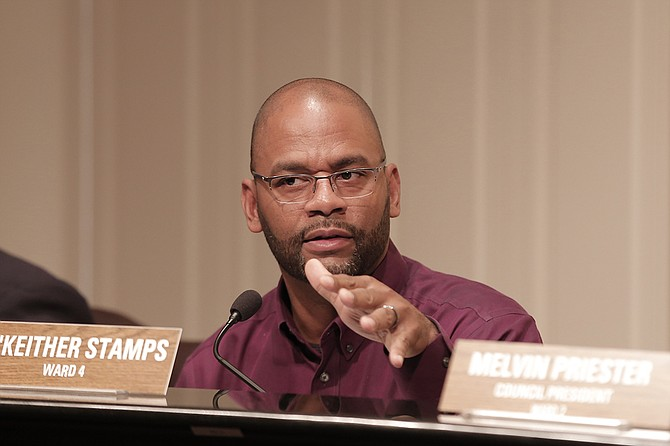 Ward 4 Councilman De'Keither Stamps proposed decriminalizing simple possession of marijuana in Jackson to free up police resources to focus on other crimes and to reduce the number who go to jail for small amounts.