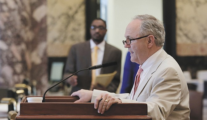 Sen. Buck Clarke, R-Hollandale, said he is optimistic about revenue projections for the fiscal-year 2019 budget, and lawmakers plan to set aside 2 percent of the budget in the state's rainy-day fund.
