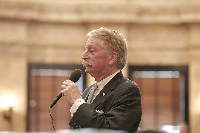 "Rep. Jeff Smith, R-Columbus, brought the ""One Lake"" bond bill back for a vote after representatives had initially killed the measure. It passed by three votes on Thursday, Feb. 22."