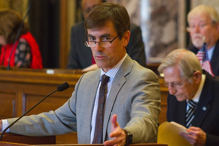 Sen. Briggs Hopson, R-Vicksburg, introduced several amendments to the House's gun bill, including not allowing weapons in school sporting events when law enforcement officers are present.