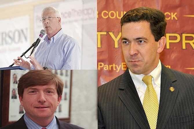 Mississippians will have to elect both U.S. senators and four representatives in the November 2018 election after Sen. Thad Cochran announced he will retire on April 1, opening up his seat for a special election. Pictured are Rodger Wicker (top left), David Baria (bottom left) and Chris McDaniel (right).
