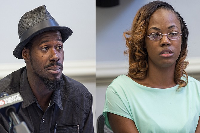 Quinnetta Manning (left) and Steven Smith (right), pictured here in May 2017, are two of the 10 Madison County residents suing the county and sheriff's department for discriminatory policing.