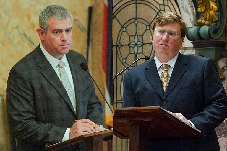 House Speaker Philip Gunn (left) and Lt. Gov. Tate Reeves (right) were able to pass a $6 billion state budget but could not come to an agreement for additional funding for roads and bridges.