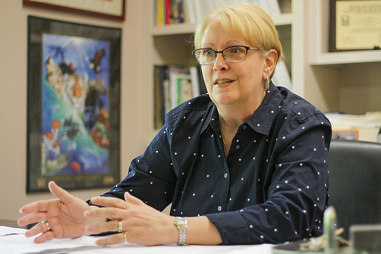 Jackson Zoo Executive Director Beth Poff is excited to rebuild at LeFleur's Bluff State Park, which is still in Jackson, but hates to leave the old one.