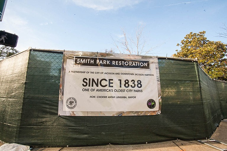Smith Park in downtown Jackson, which has been closed for renovations since November 2017, will reopen on Friday, April 13.