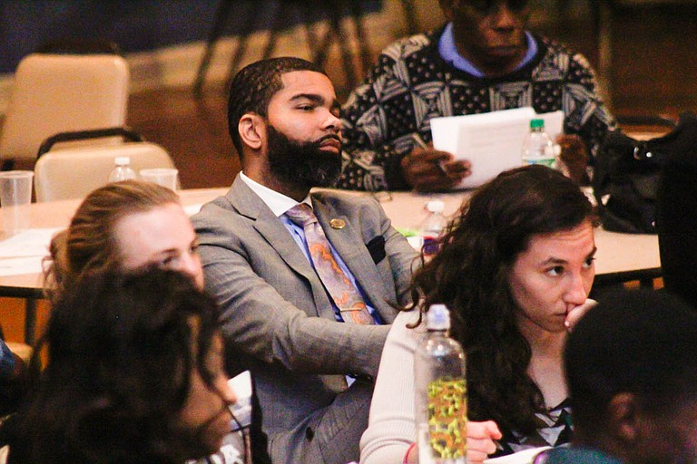 At the participatory budgeting People's Assembly on April 10,  Mayor Chokwe Antar Lumumba engaged as a citizen, rather than as the mayor.