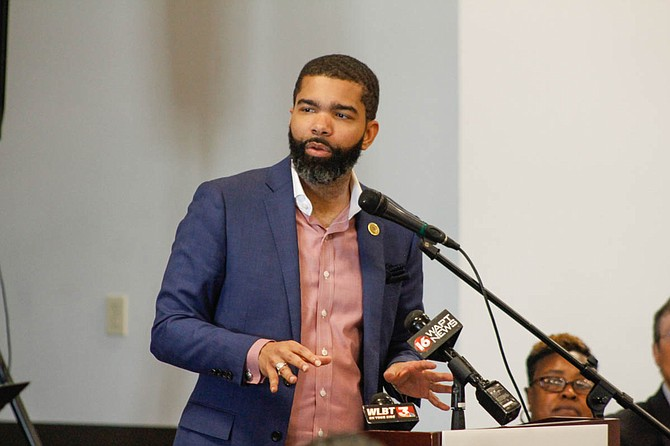 Mayor Chokwe Antar Lumumba committed to several development projects to revitalize west Jackson at a Working Together Jackson luncheon at New Horizon Church International.