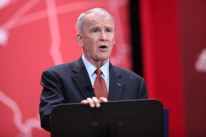 Retired Marine Lt. Col. Oliver North, a popular speaker before the National Rifle Association, is poised to become the group's next president.