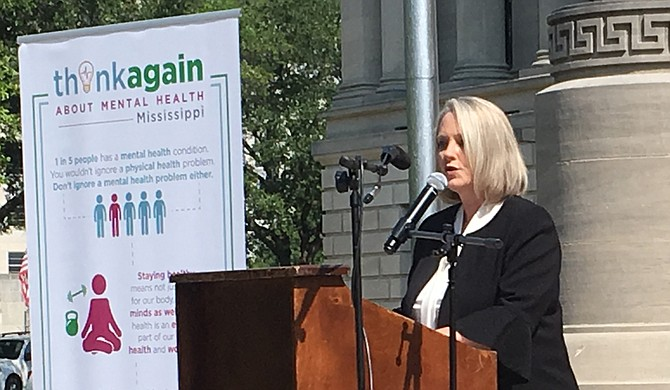 "Diana Mikula, the executive director of the Mississippi Department of Mental Health, hopes that the ""Think Again"" campaign will break down the stigma of mental illness and encourage Mississippians to seek care if they need it."