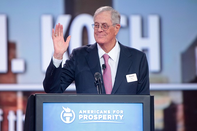Billionaire conservative icon David Koch is stepping down from the Koch brothers' network of business and political activities.