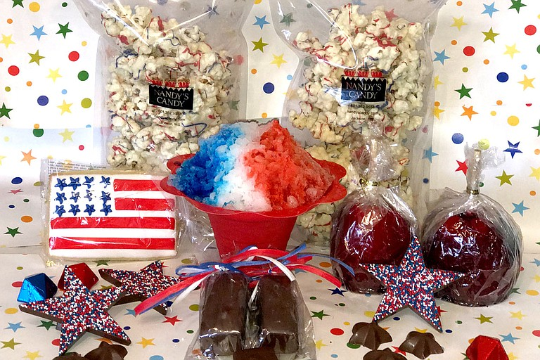 Celebrate the Fourth of July with businesses such as Nandy's Candy.